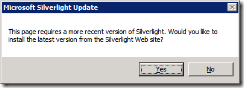 silverlight update warning